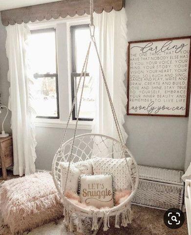 Cadeira Suspensa de Macramê - Foto 4