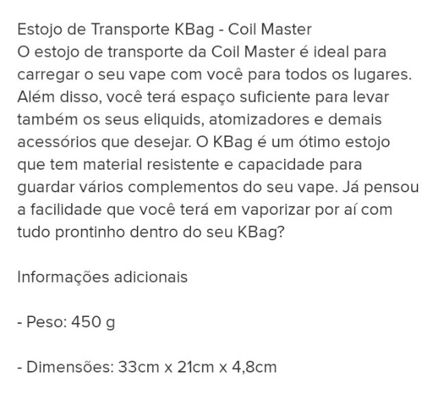 Master Kbag Case estojo coil - Foto 3