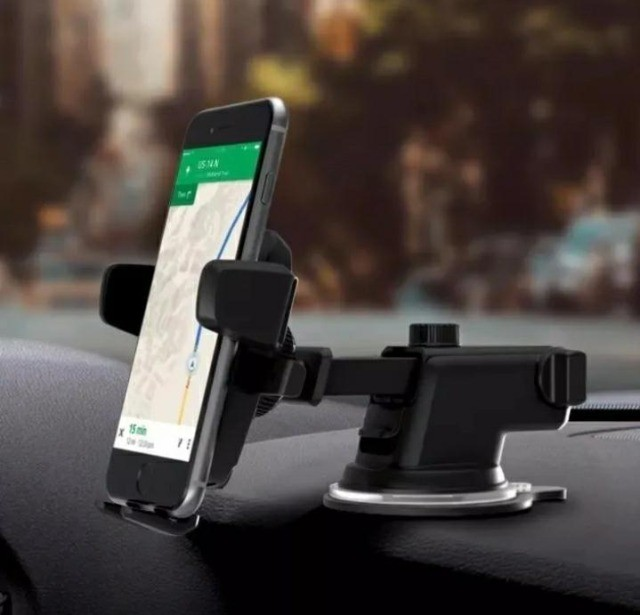 Suporte Celular GPS Carro Resistente Firme Haste Ajuste Prolongável Rotação 360  - Foto 3