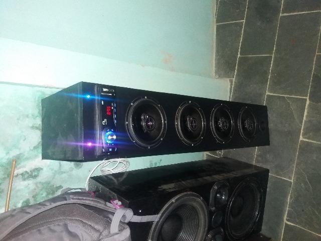 Caixa de som com rádio mp3