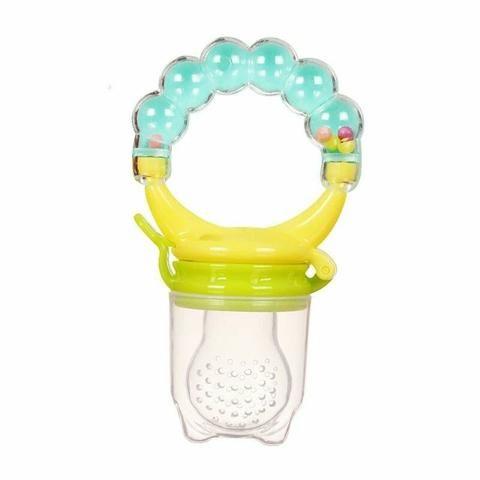 Chupeta Alimentadora com Chocalho Bebê bico de silicone menina menino frutas