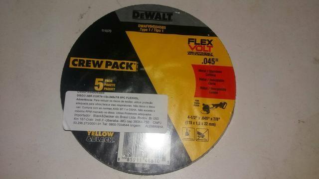 Disco de corte Dewalt 4.1/2 Pac 5 pecas