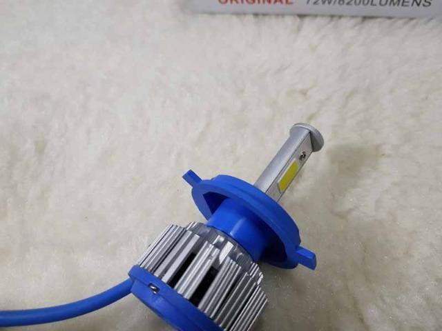 Lampada LED Farol H4 4100LM de potencia 36W com Cooler (Uma Unidade/Moto) - Foto 11