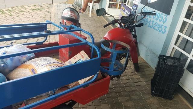 Triciclo para supermercado, entrega de gás, agua, compra - Foto 6