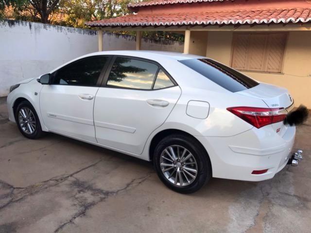 Corolla XEI 2015 branco perolizado. Carro extra com 65 mil km! - Foto 8