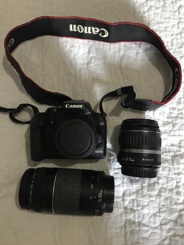 Canon EOS 1000D + 2 lentes + Mochila