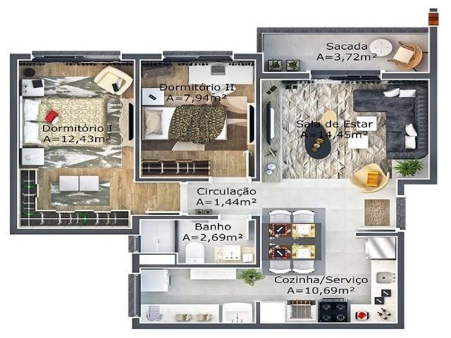 Apartamento residencial à venda, canudos, novo hamburgo - ap0070. - Foto 6
