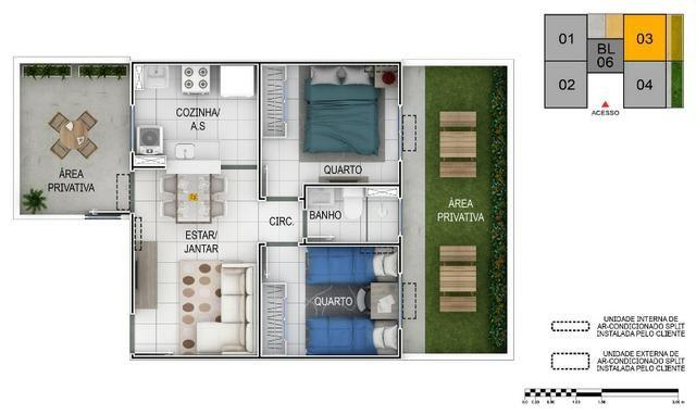Apartamento no Setor Perin Gran Vitta com Elevador Ent. R$ 500,00 e escritura Grátis - Foto 3