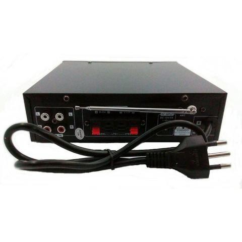Mini Amplificador de Som Bluetooth Karaoke Le-705 Lelong 110v Usb Cartão Mp3 Fm 2 Canais - Foto 3