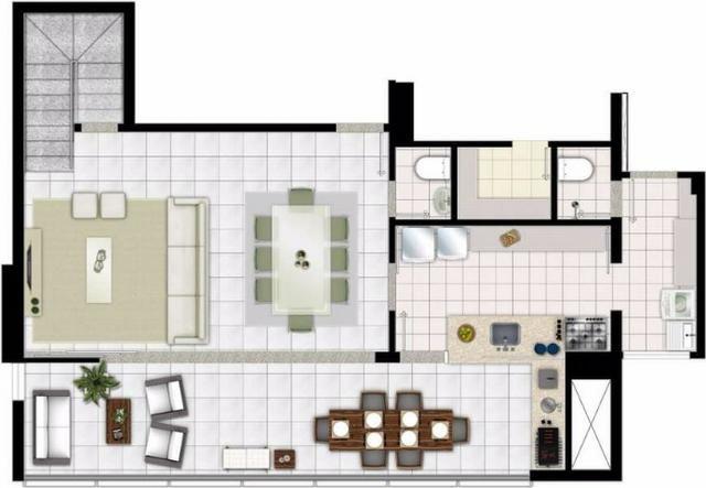 Apartamento Duplex 142m2 3Q st Oeste/lindo/vista perfeita/25a/aceita permuta menor Valor - Foto 2