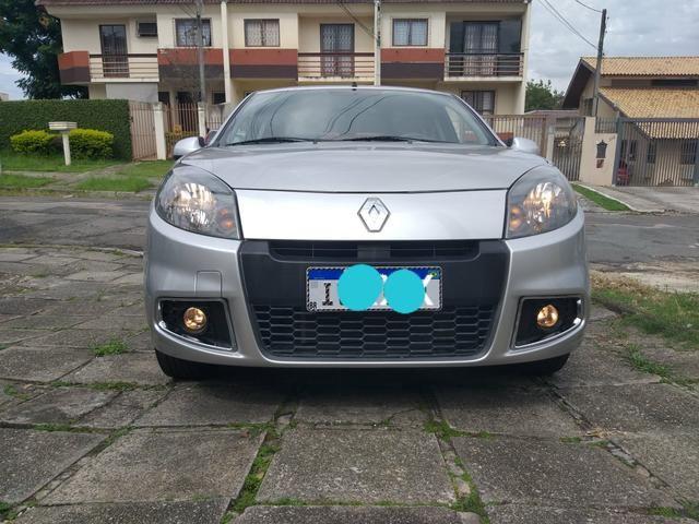 Renault Sandero expression 1.0 completo 2014 troco por moto - Foto 3