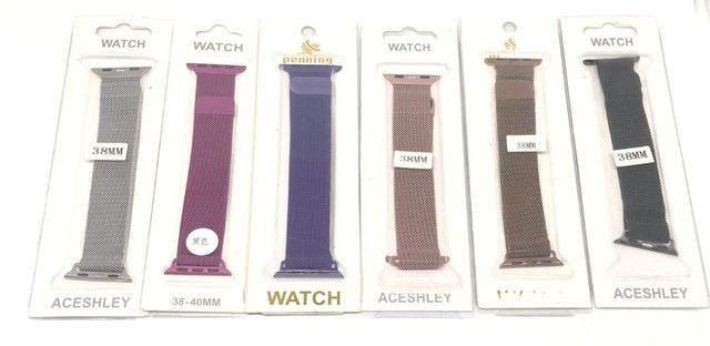 Pulseira Magnética Para Relógio Smartwatch Apple Watch ou W34 38mm Produto Novo - Foto 3