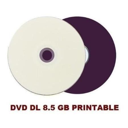 Tubo dvds dual layer. 8.5 gb cada. 100 unidades. printable. lacrado