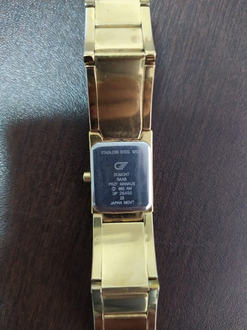 Relógio Dumont Diamond Feminino Dourado - Foto 4