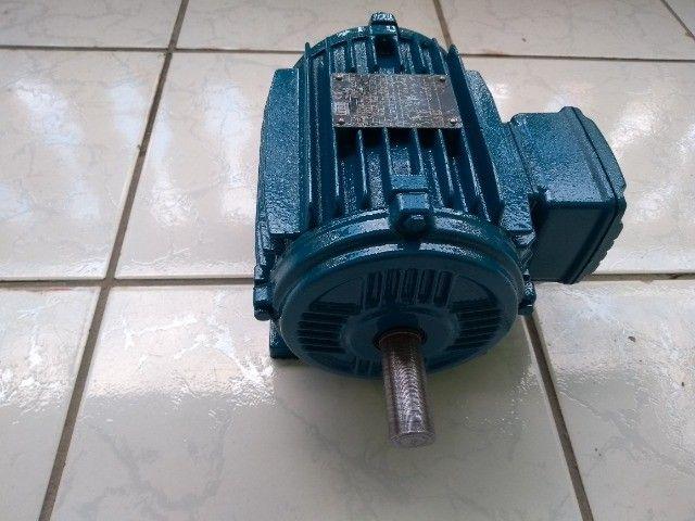Motor Elétrico Trifásico Duplo Eixo Weg 1cv 830rpm Usado - Foto 3