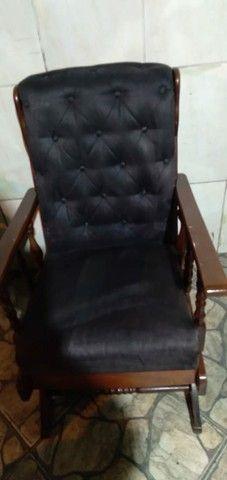 Cadeira de escritório reformada (recepção) com balanço
