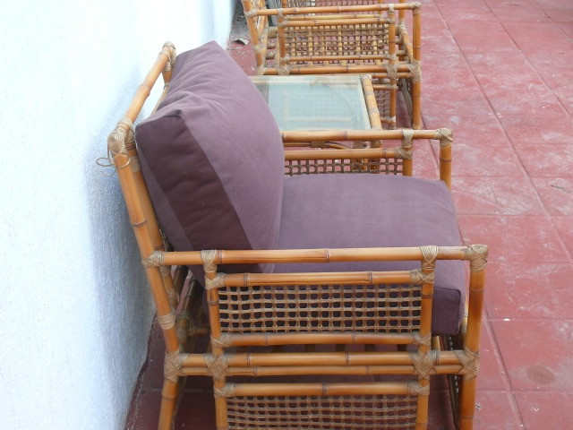 Poltronas almofadas mesa vime LEIA! - Foto 5