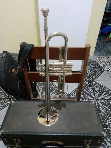 Trompete sib scavone impecável  - Foto 2