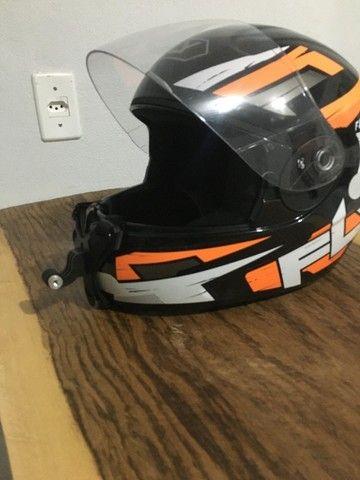 Suporte queixo capacete câmera (Motovlog) - Foto 6