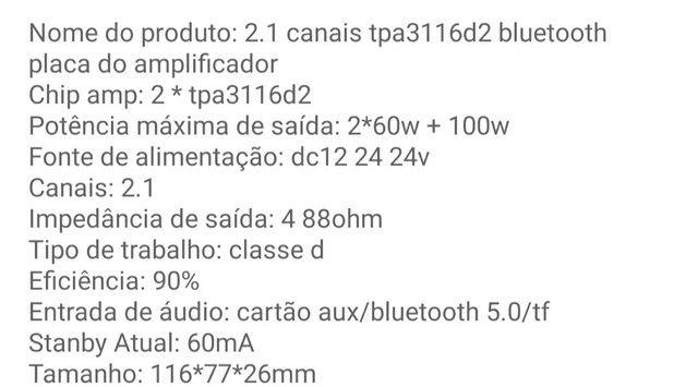 Placa amplificadora 220W RMS - Foto 5