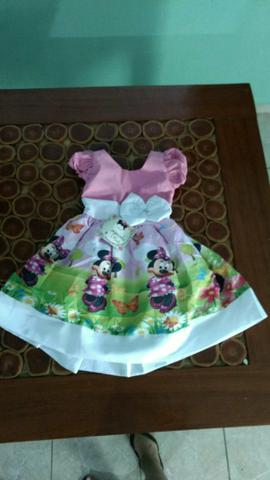 Vestido infantil - Minnie rosa