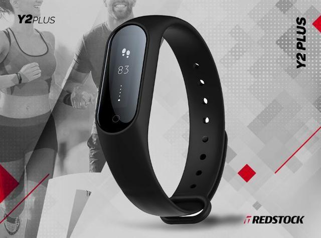 Smartband Y2 Plus Batimentos Cardíacos e Pressão Arterial - Preto