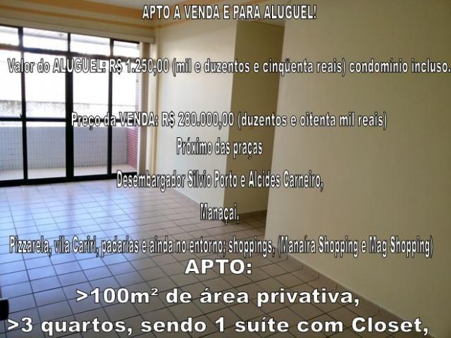 Baixou! ap em Manaíra, Aluguel, localização super privilegiada! 100m², 1º andar, posição s