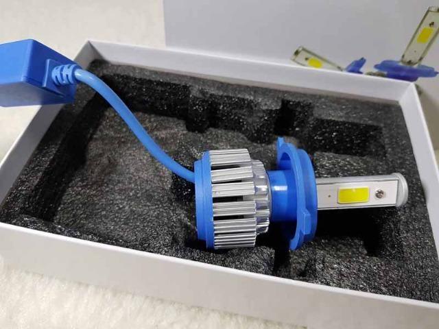 Lampada LED Farol H4 4100LM de potencia 36W com Cooler (Uma Unidade/Moto) - Foto 6