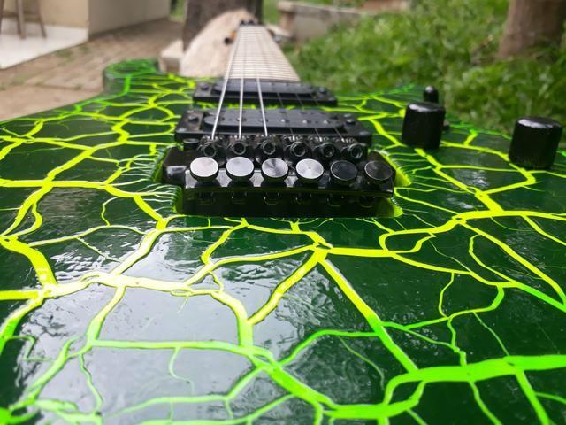 Guitarra Vulcan Tagima Pintura Personalizada e Ponte Ibanez Edge III - Foto 5