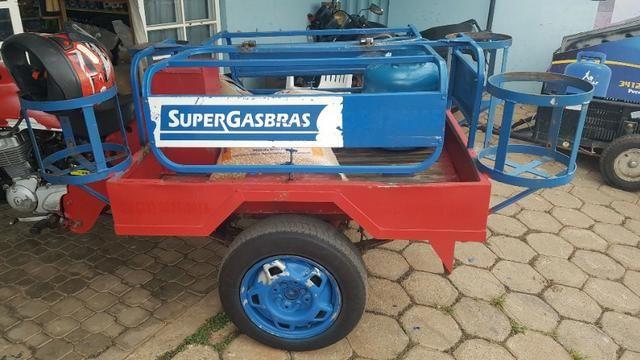 Triciclo para supermercado, entrega de gás, agua, compra - Foto 7