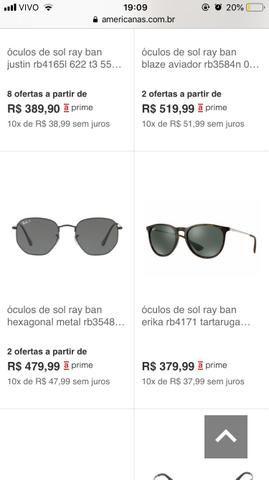 Óculos ray ban hexagonal original - Bijouterias, relógios e ... 185f6e26b4