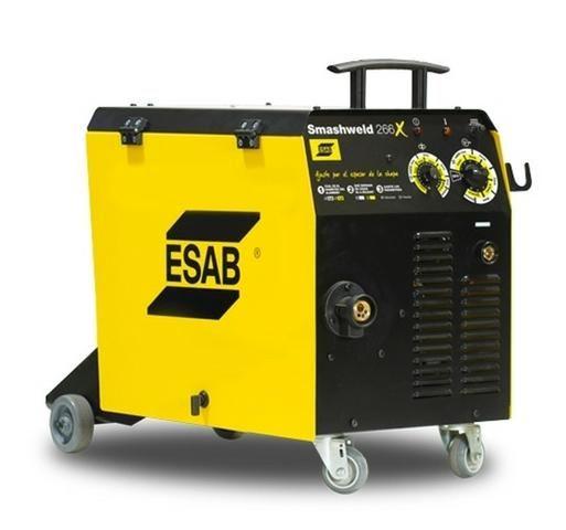 Máquina de Solda Mig/Mag 250A Smashweld 266X (220/380V) Esab 0407652? Arames de até 1,00mm