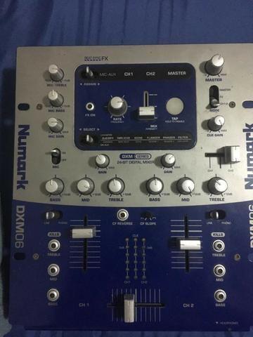 Numark DXM06 2 Canais 24 Bits Digital Dj Mixer - funcionando e usado