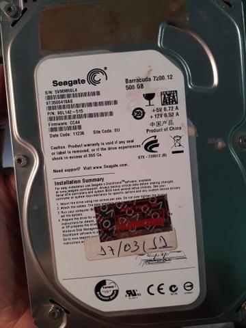 Hd 500 Gb Seagate 7200rpm