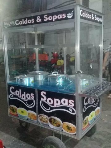 Carroça de caldo e sopa