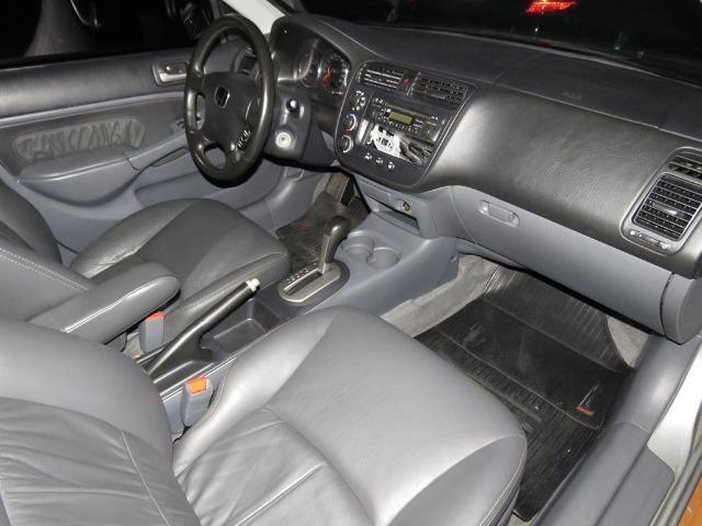 Honda Civic 1.7 EX 16v 4p Automático Blindagem III-A Completo C/ Couro - Foto 13