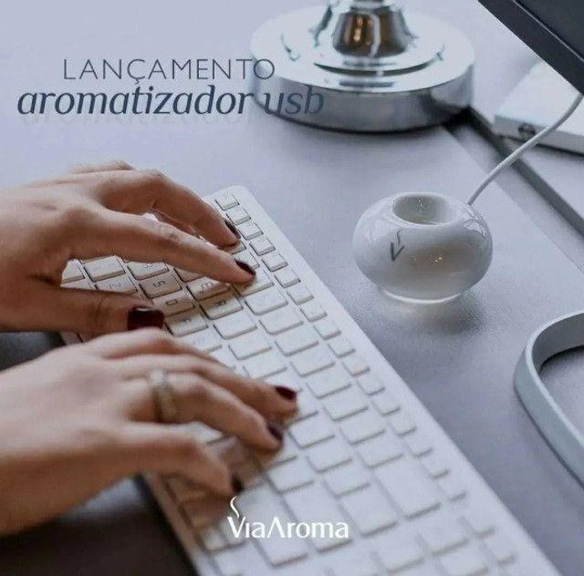 Aromatizador Elétrico Difusor Portátil Usb Porcelana - Foto 5