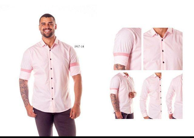 Camisa social masculina - Foto 2