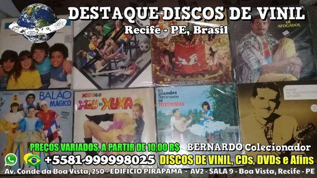 Varios Discos de Vinil CDs e DVDs, Preços Variados - Foto 3