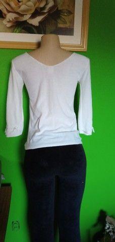 Blusa Tricô Branca - Tam. M - Foto 4