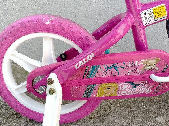 Bicicleta Menina Barbie Caloi Aro 12 - Foto 4
