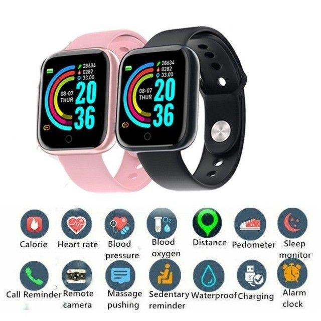 D20 Rosa Relógio Smart Funções Celular Esportivas - Foto 5