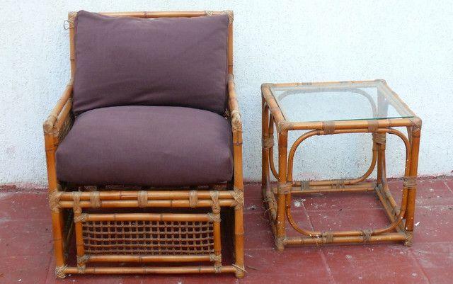 Poltronas almofadas mesa vime LEIA! - Foto 4