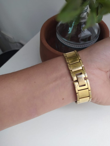 Relógio Dumont Diamond Feminino Dourado - Foto 2