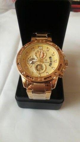 Relógio de luxo wwoor cronógrafo modelo 2021 - Foto 4