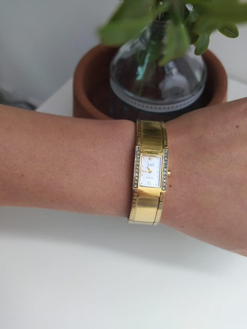 Relógio Dumont Diamond Feminino Dourado - Foto 3