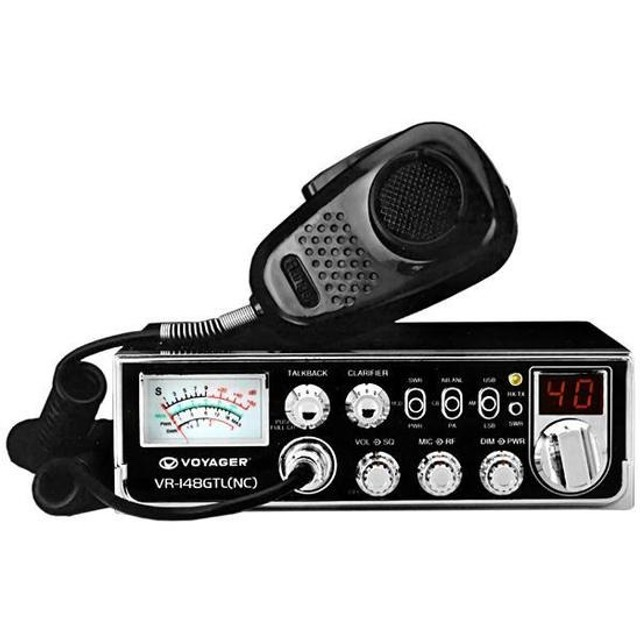 Radio PX Voyager VR-148GTL (NC) de Ate 40 Canais - Preto
