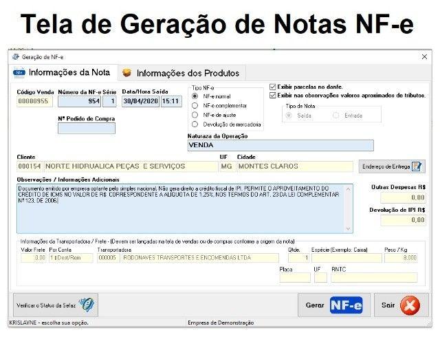 Software Emissor de notas fiscais para empresas em geral. Caixa, Estoque, Financeiro - Foto 2