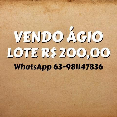 Ágio de Lote Parcela 200,00 reais