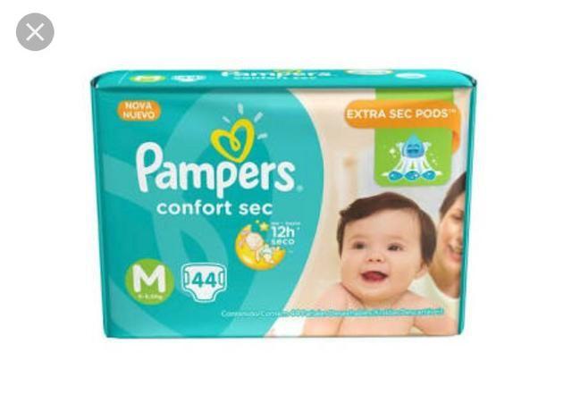 Fralda Pampers confort sec M